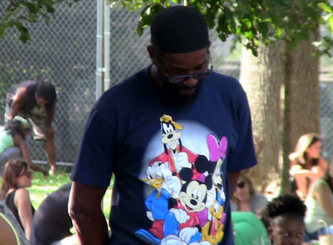 guy with cartoon tee