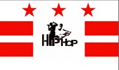 DC Flag superimposed with Hip Hop image