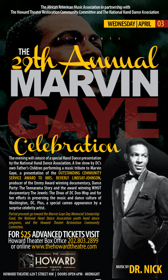 Marvin Gaye Celebration flyer