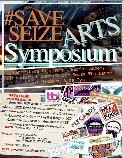 flyer for Save Seize Arts Symposium